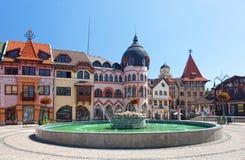 欧洲广场在Komarno 免版税库存照片