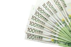欧洲100张的钞票 库存照片