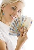 欧洲微笑的妇女 免版税图库摄影