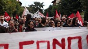 欧洲总罢工 库存图片