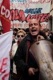 欧洲总罢工 图库摄影
