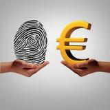 欧洲情报市场 免版税库存照片