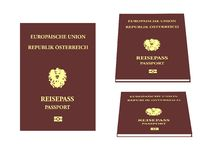 欧洲护照 库存图片