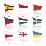 欧洲旗子,传染媒介 免版税库存照片