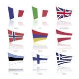 欧洲旗子,传染媒介 免版税库存图片
