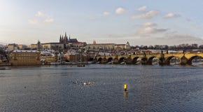 欧洲旧港口城市风景 免版税图库摄影