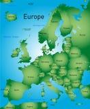 欧洲映射 免版税库存照片