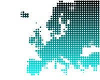 欧洲映射 免版税图库摄影