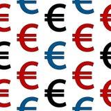 欧洲标志无缝的样式 库存照片