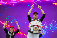 欧洲歌唱大赛爱好者区域 图库摄影