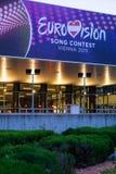 欧洲歌唱大赛2015年在维也纳,著名欧洲音乐co 图库摄影