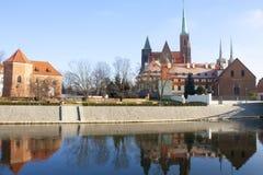 欧洲 波兰 弗罗茨瓦夫风景 免版税图库摄影
