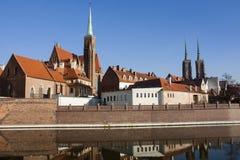 欧洲 波兰 弗罗茨瓦夫风景 库存照片