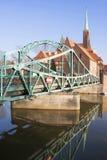 欧洲 波兰 Wroslaw桥梁 库存图片