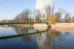 欧洲 波兰 Wroslaw桥梁 免版税库存照片
