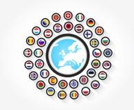 从欧洲的旗子 库存例证