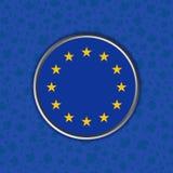 欧洲的标志蓝色背景的 免版税图库摄影