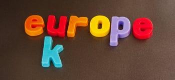 欧洲的英国部分 库存照片
