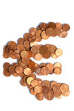 欧洲硬币的欧洲标志 免版税库存图片