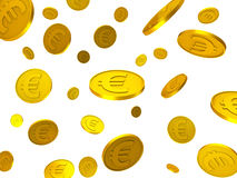 欧洲硬币表明财政欧元和财务 库存例证