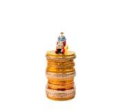 欧洲硬币,图,钞票 图库摄影