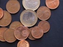 欧洲硬币,欧盟背景 图库摄影