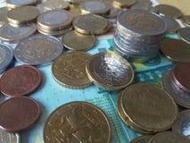 欧洲硬币,欧盟 免版税图库摄影
