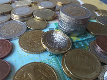 欧洲硬币,欧盟 库存照片