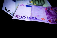 欧洲笔记 免版税库存照片