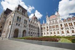 欧洲建筑学样式议会大厦在布达佩斯, Hunga 免版税库存照片