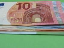 欧洲纸币和硬币,欧盟 图库摄影