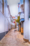 欧洲缩小的街道 库存图片