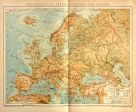 欧洲老物理地图  免版税图库摄影