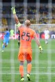 欧洲联赛冠军杯比赛基辅迪纳摩对拿坡里 库存图片