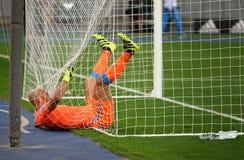 欧洲联赛冠军杯比赛基辅迪纳摩对拿坡里 库存照片