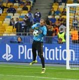 欧洲联赛冠军杯比赛基辅迪纳摩对拿坡里 免版税库存图片