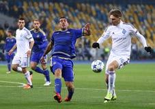 欧洲联赛冠军杯比赛基辅迪纳摩对马卡比队特拉唯夫 免版税图库摄影
