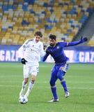 欧洲联赛冠军杯比赛基辅迪纳摩对马卡比队特拉唯夫 库存照片