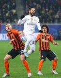 欧洲联赛冠军杯比赛Shakhtar对皇马 免版税库存照片