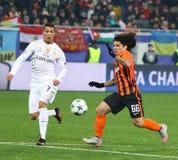欧洲联赛冠军杯比赛Shakhtar对皇马 库存照片