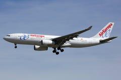 欧洲航空公司空中客车A330-200飞机马德里机场 库存图片