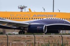 欧洲航空邮件喷气机细节 免版税库存照片
