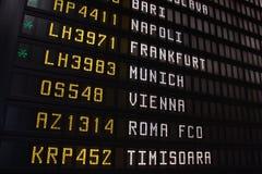 欧洲航行时刻表 免版税图库摄影