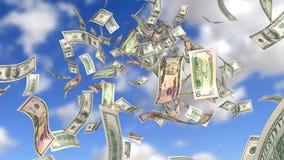 欧洲落的货币雨天空 皇族释放例证