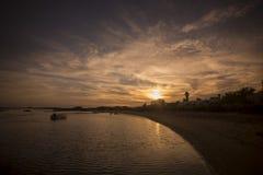 欧洲葡萄牙阿尔加威小屋海岸 库存照片