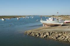 欧洲葡萄牙阿尔加威小屋海岸 库存图片