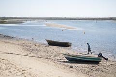 欧洲葡萄牙阿尔加威小屋海岸 免版税图库摄影