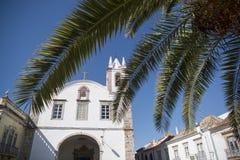 欧洲葡萄牙阿尔加威TAVIRA老镇 免版税库存照片