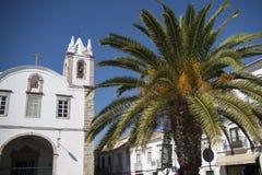欧洲葡萄牙阿尔加威TAVIRA老镇 库存照片