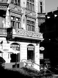 欧洲街道咖啡馆 免版税库存图片